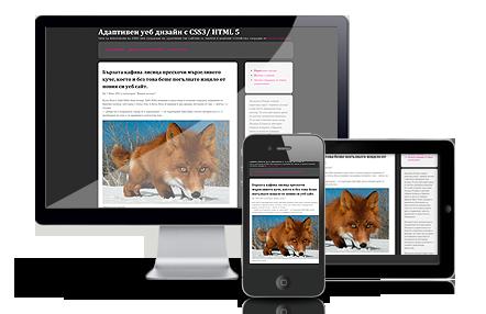 Адаптивен уеб дизайн за мобилни устройства от Георги Ангелов